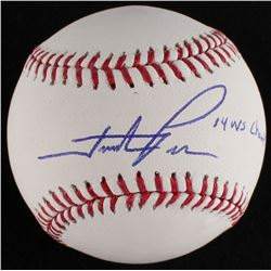 "Hunter Pence Signed OML Baseball Inscribed ""'14 WS Champs"" (MLB Hologram)"