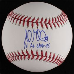 "Andrew Miller Signed OML Baseball Inscribed ""'16 AL Champs"" (MLB Hologram)"
