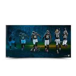 "Allen Robinson Signed LE Jaguars ""TD Catch Celebration"" 30"" x 15"" Photo (UDA COA)"