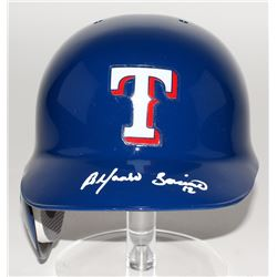 Alfonso Soriano Signed Rangers Full-Size Authentic Batting Helmet (JSA COA)
