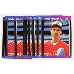 Lot of (10) 1989 Donruss #42 Randy Johnson RC