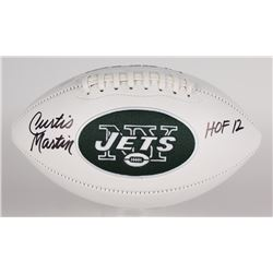 "Curtis Martin Signed Jets Logo Football Inscribed ""HOF 12"" (Martin Hologram)"