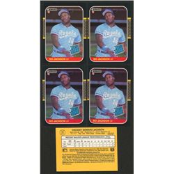 Lot of (5) 1987 Donruss #35 Bo Jackson RC