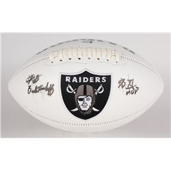 "Fred Biletnikoff Signed Raiders Logo Football Inscribed ""SB XI MVP"" (Beckett COA)"