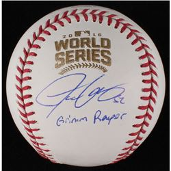 "Justin Grimm Signed World Series Baseball Inscribed ""Grimm Reaper"" (JSA COA)"