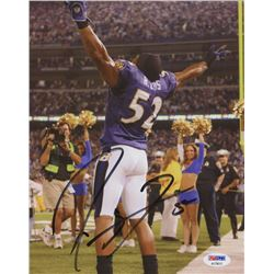 Ray Lewis Signed 8x10 Photo (PSA COA)