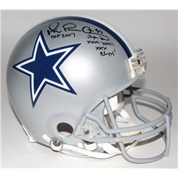 Michael Irvin Signed LE Cowboys Full-Size Authentic Pro-Line Helmet With Extensive Inscription (Stei