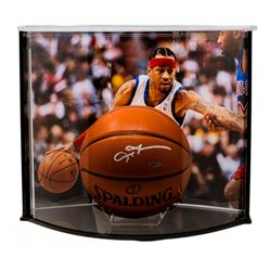 Allen Iverson Signed Official Game Ball Series Basketball with Curve Display Case (UDA COA)