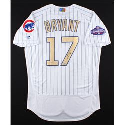 Kris Bryant Signed Cubs Majestic Authentic Gold Jersey (MLB  Fanatics Hologram)