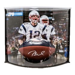 "Tom Brady Signed LE Super Bowl LI ""The Duke"" Official NFL Game Ball with Curve Display Case (Tristar"