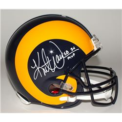 "Kurt Warner Signed Rams Full-Size Throwback Authentic Helmet Inscribed ""SB 34 MVP"" (JSA COA)"