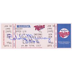 "Eddie Murray Signed 1995 Twins vs. Indians Ticket Stub Inscribed ""3000"" (JSA COA)"