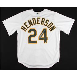 Rickey Henderson Signed Athletics Majestic Jersey (MLB Hologram)