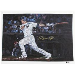 "Gary Sanchez Signed LE Yankees 22"" x 30"" Fine Art Print from Hintz Studios (Steiner COA  MLB Hologra"
