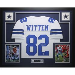 "Jason Witten Signed Cowboys 35"" x 43"" Custom Framed Jersey (JSA COA)"