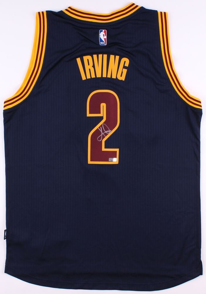 6d3f1d1d9 ... clearance image 1 kyrie irving signed cavaliers authentic adidas  swingman jersey panini coa 8a059 8c5be