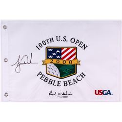 Tiger Woods Signed LE 2000 PGA U.S. Open Pin Flag (UDA COA)