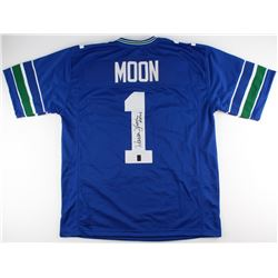"Warren Moon Signed Seahawks Jersey Inscribed ""HOF 06"" (Moon Hologram)"