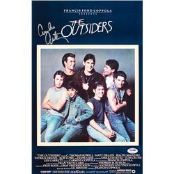 "Emilio Estevez Signed ""The Outsiders"" 11x17 Movie Poster Photo (PSA COA)"