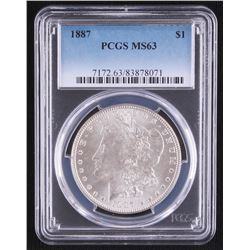 1887 Morgan Silver Dollar (PCGS MS63)