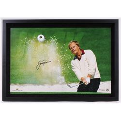 "Jack Nicklaus Signed LE 27.25"" x 19.25""x1.25 Custom Framed Photo Shadowbox Display with Golf Ball (U"