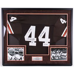 "Leroy Kelly Signed Browns 33.75""x41.75""x2.25"" Custom Framed Jersey Shadowbox Display Inscribed ""6x A"