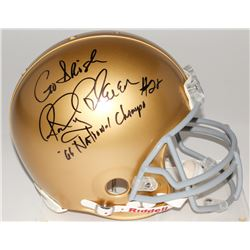 "Rocky Bleier Signed Notre Dame Fighting Irish Full-Size Authentic Helmet Inscribed ""Go Irish""  ""'66"