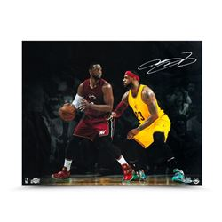 LeBron James Signed Cavaliers LE 16x20 Photo with Dwyane Wade (UDA COA)