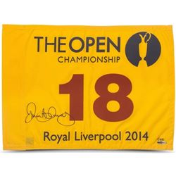 Rory McIlroy Signed LE 2014 British Open Pin Flag (UDA COA)