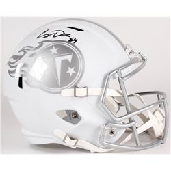 Corey Davis Signed Titans Custom Matte White Full-Size Speed Ice Helmet (JSA COA)