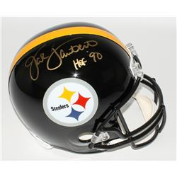 Jack Lambert Signed Steelers Full-Size Helmet Inscribed  HOF '90  (Radtke COA  Lambert Hologram)