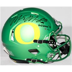 "Marcus Mariota Signed LE Oregon Full-Size Authentic Pro-Line Speed Helmet Inscribed ""Heisman '14"" Ou"