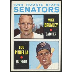1964 Topps #167 Rookie Stars Mike Brumley RC / Lou Piniella RC