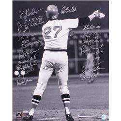 1975 Boston Red Sox 16x20 Carlton Fisk Photo Team-Signed by (21) with Carlton Fisk, Jim Rice, Dwight