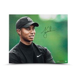 """Tiger Woods Signed """"Up Close  Personal"""" 20"""" x 24"""" Photo on Canvas (UDA COA)"""