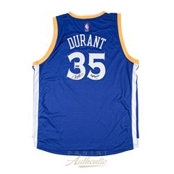 """Kevin Durant Signed Warriors LE Authentic Swingman Jersey Inscribed """"17 NBA Champ"""" (Panini COA)"""