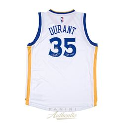 "Kevin Durant Signed Warriors LE Authentic Swingman Jersey Inscribed ""17 NBA Champ"" (Panini COA)"