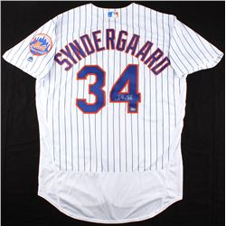 Noah Syndergaard Signed Mets Team Patch Jersey (MLB Hologram)