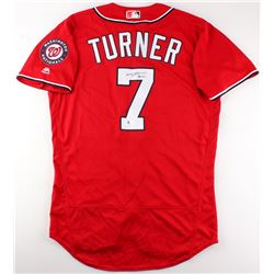 Trea Turner Signed Nationals Jersey (MLB Hologram)