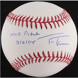 "Trea Turner Signed OML Baseball Inscribed ""MLB Debut 8/21/15"" (MLB Hologram)"