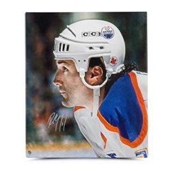 "Paul Coffey Signed Oilers ""Up Close  Personal"" 20"" x 24"" Photo on Canvas (UDA COA)"