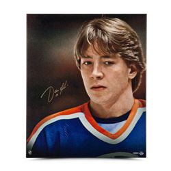 "Jari Kurri Signed Oilers ""Up Close  Personal"" 20"" x 24"" Photo on Canvas (UDA COA)"