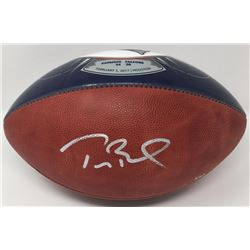 "Tom Brady Signed LE Patriots ""Super Bowl 51 Championship"" Logo Football (Steiner  TriStar)"