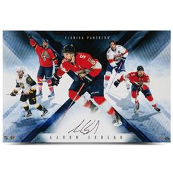 "Aaron Ekblad Signed Panthers ""Panthers Collage"" 16"" x 24"" Photo (UDA COA)"
