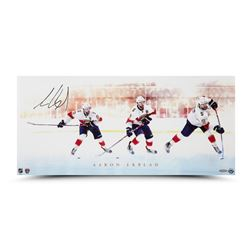 "Aaron Ekblad Signed Panthers ""Power Shot"" 12"" x 26"" Photo (UDA COA)"