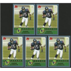 Lot of (5) 2003 Topps #380 Andre Johnson RC