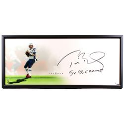 """Tom Brady Signed Patriots """"The Show"""" 20"""" x 46"""" LE Custom Framed Lithograph Inscribed """"5x SB Champ"""" ("""
