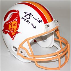 """Jameis Winston Signed LE Buccaneers Full-Size Authentic Pro-Line Throwback Helmet Inscribed """"2015 #1"""