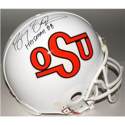 "Barry Sanders Signed Oklahoma State Cowboys Full-Size Helmet Inscribed ""Heisman 88"" (Steiner COA)"