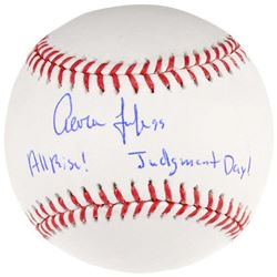 "Aaron Judge Signed LE OML Baseball Inscribed ""All Rise!""  ""Judgement Day!"" (Fanatics Hologram)"